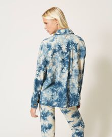 "Tie-dye jacket ""Snow"" White / Light Blue Tie Dye Woman 211TT2544-04"