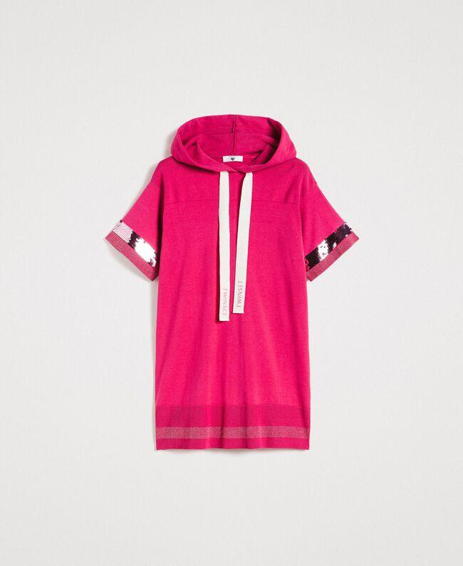 Viscose mini dress with sequins Rose Blossom Woman 191LL35QQ-0S
