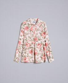 Rose print viscose blouse Cloud Rose Pink Rose Print Woman JA82PN-0S
