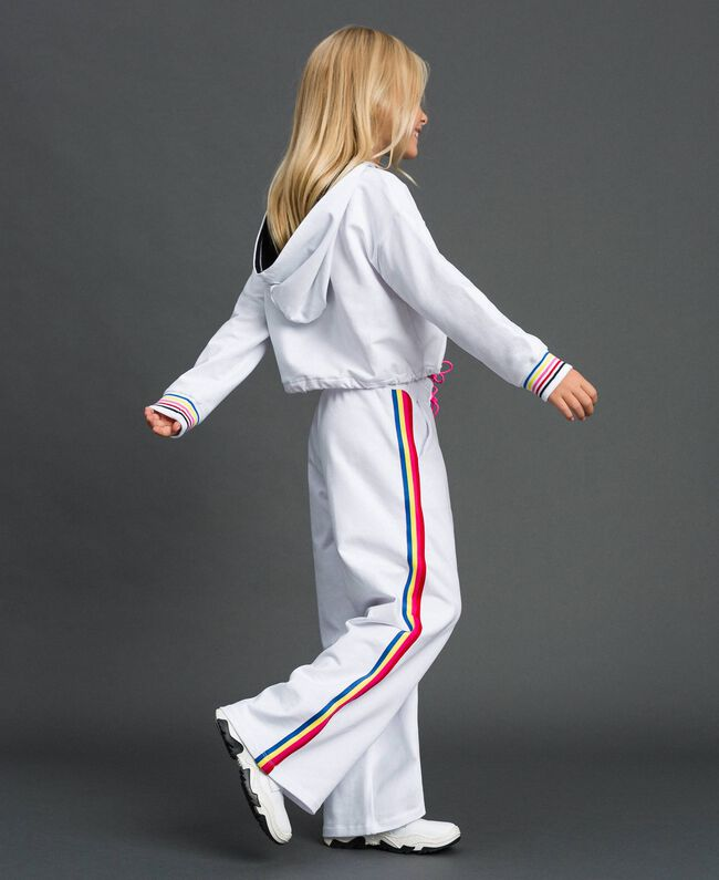 """Hoodie and trousers """"Papers"""" White Child 999GJ2013-03"""