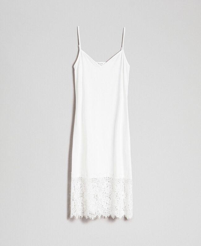 Robe nuisette avec dentelle Blanc Femme 192ST2195-0S
