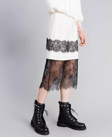 Falda midi de seda White Nieve Mujer PA82EP-03