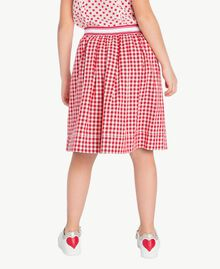 Gingham skirt Gingham / Pomegranate Red Jacquard Child GS82ZF-04