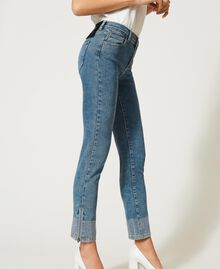 Push up jeans with studs Light Denim Woman 202MP2192-05