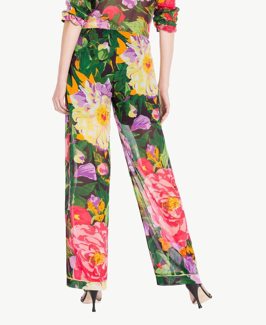 "Hose mit Print ""Summer Garden""-Print Frau TS8244-03"