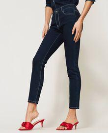 """'Vega"""" skinny jeans Dark Denim Woman 211MT2383-03"""