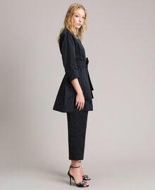 Taffeta duster coat Black Woman 191TP2655-02