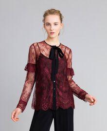 Valencienne lace multi-colour shirt Bordeaux Woman PA82FR-01