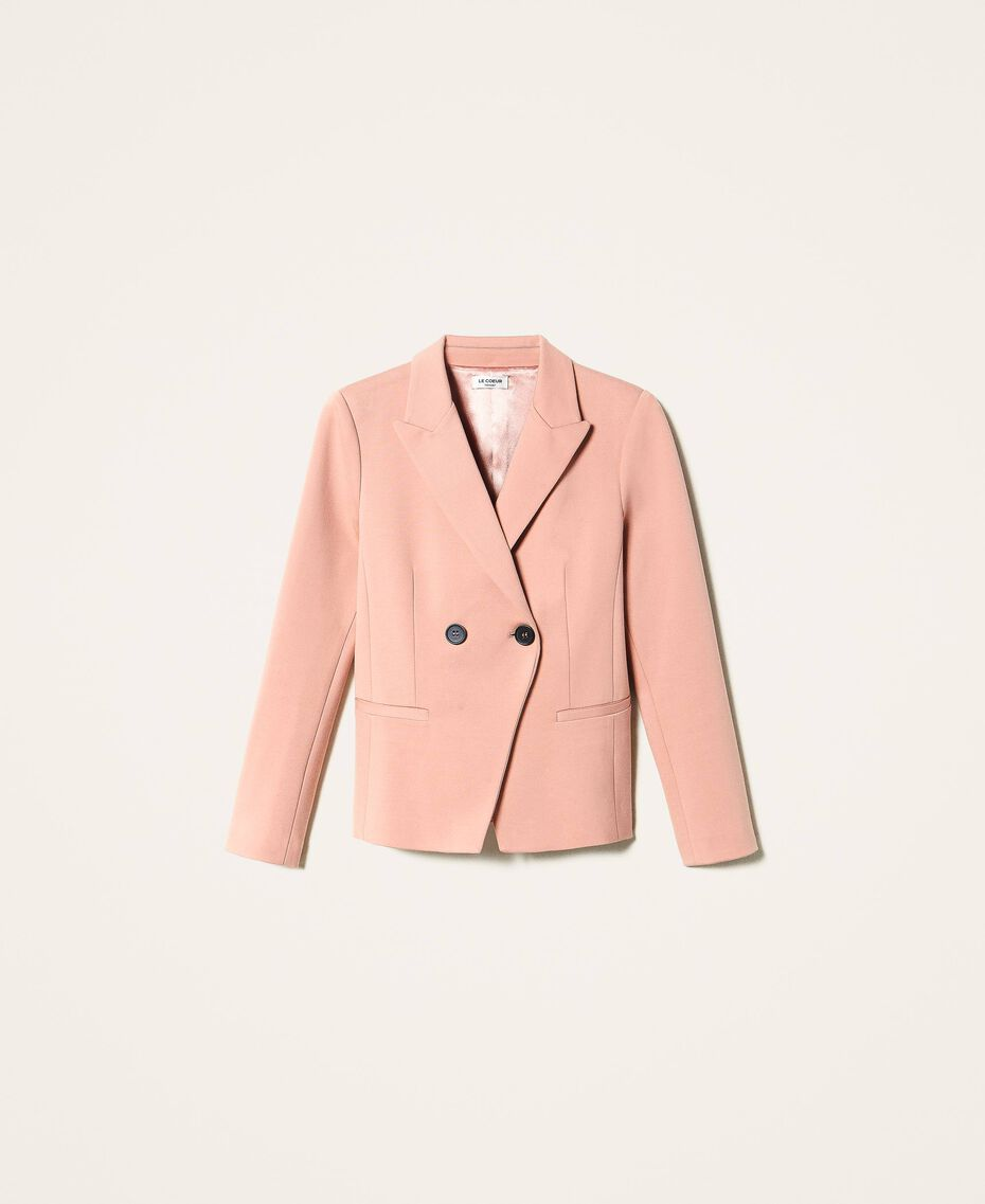 """Double breasted two-button blazer """"Vintage"""" Pink Woman 202ST2020-0S"""