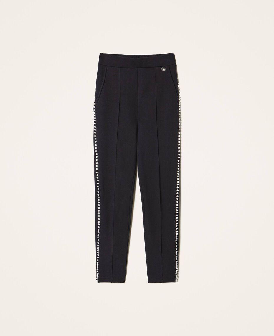 Pantalón con bordado de cuentas Negro Mujer 202TT2T52-0S