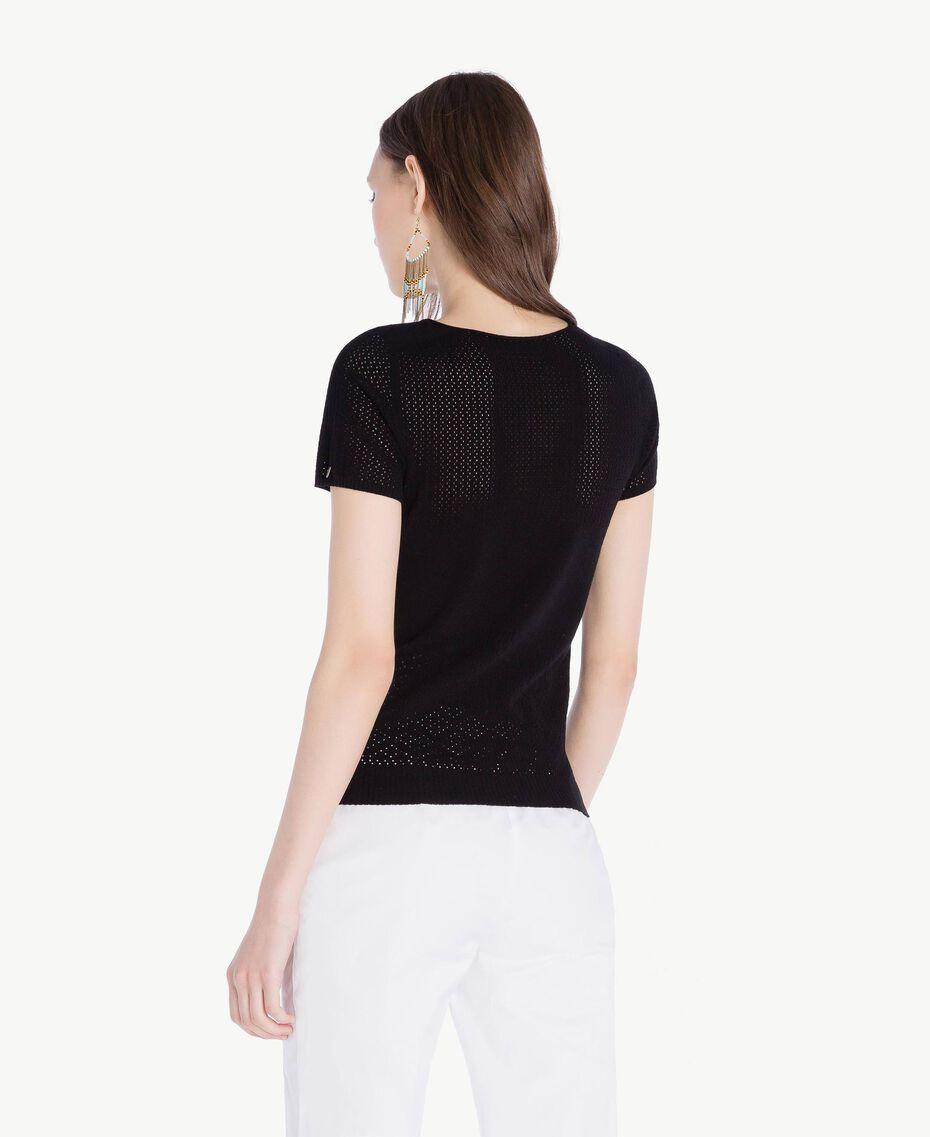 Pullover aus Viskose Schwarz Frau TS832S-03