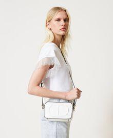 Shoulder bag with logo Black Woman 211TD8081-0S