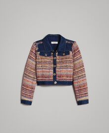Bouclé jacket with inserts Bouclé Jacquard / Dark Denim Child 191GJ2022-01