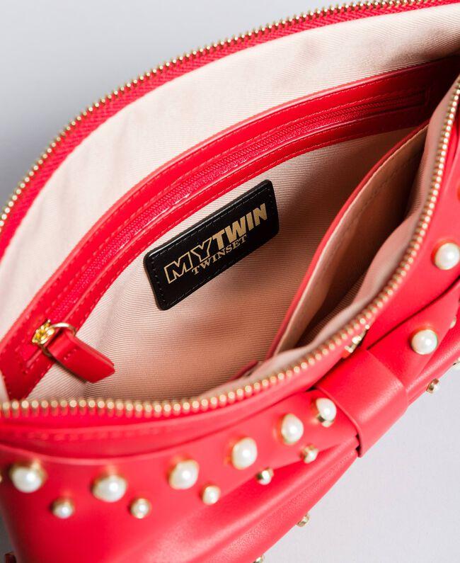 Pochette en similicuir avec nœud Rouge Coquelicot Femme VA8PB5-04