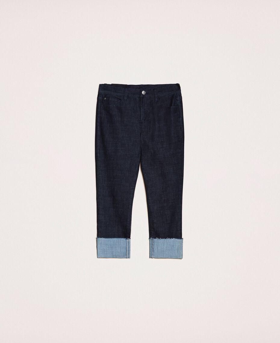 Jeans tomboy con risvolto Denim Blue Donna 201MP2341-0S