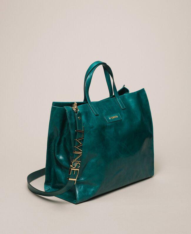 Кожаная сумка-шоппер с логотипом Питон женщина 201TA7090-03