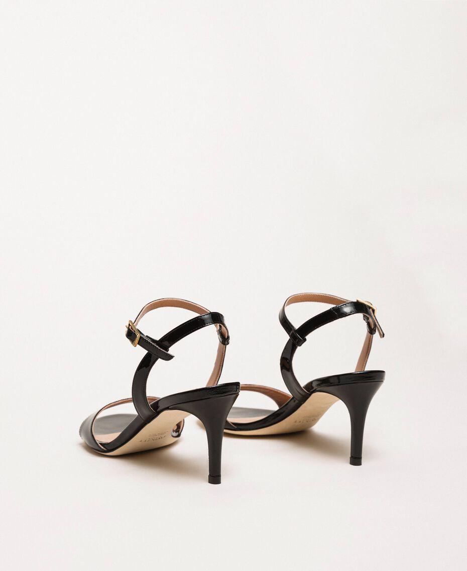 Sandalette aus Leder Blütenknospenrosa Frau 999TCT012-03