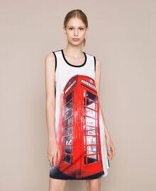 Camicia da notte con stampa Rosso Melograno Donna 201LL26AA-01