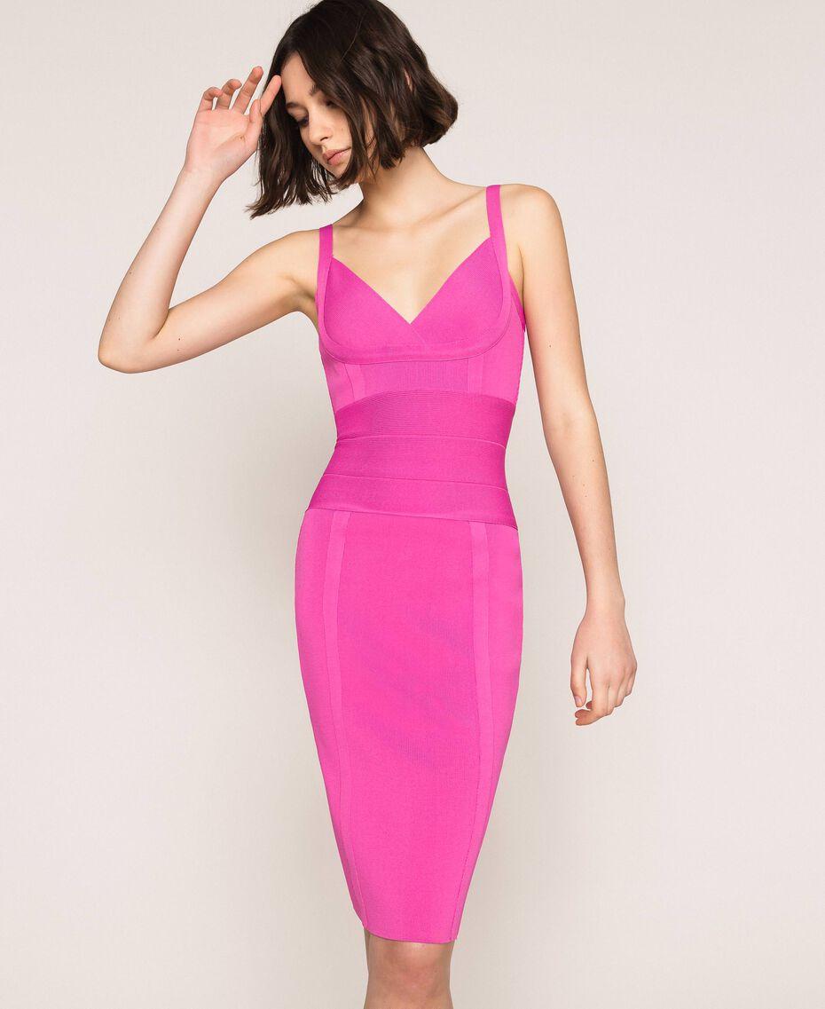 Vestido de tubo de punto Rosa «Jazz» Claro Mujer 201TT3182-01