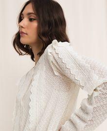 Robe en broderie anglaise avec cordon coulissant Blanc Neige Femme 201TP2496-05