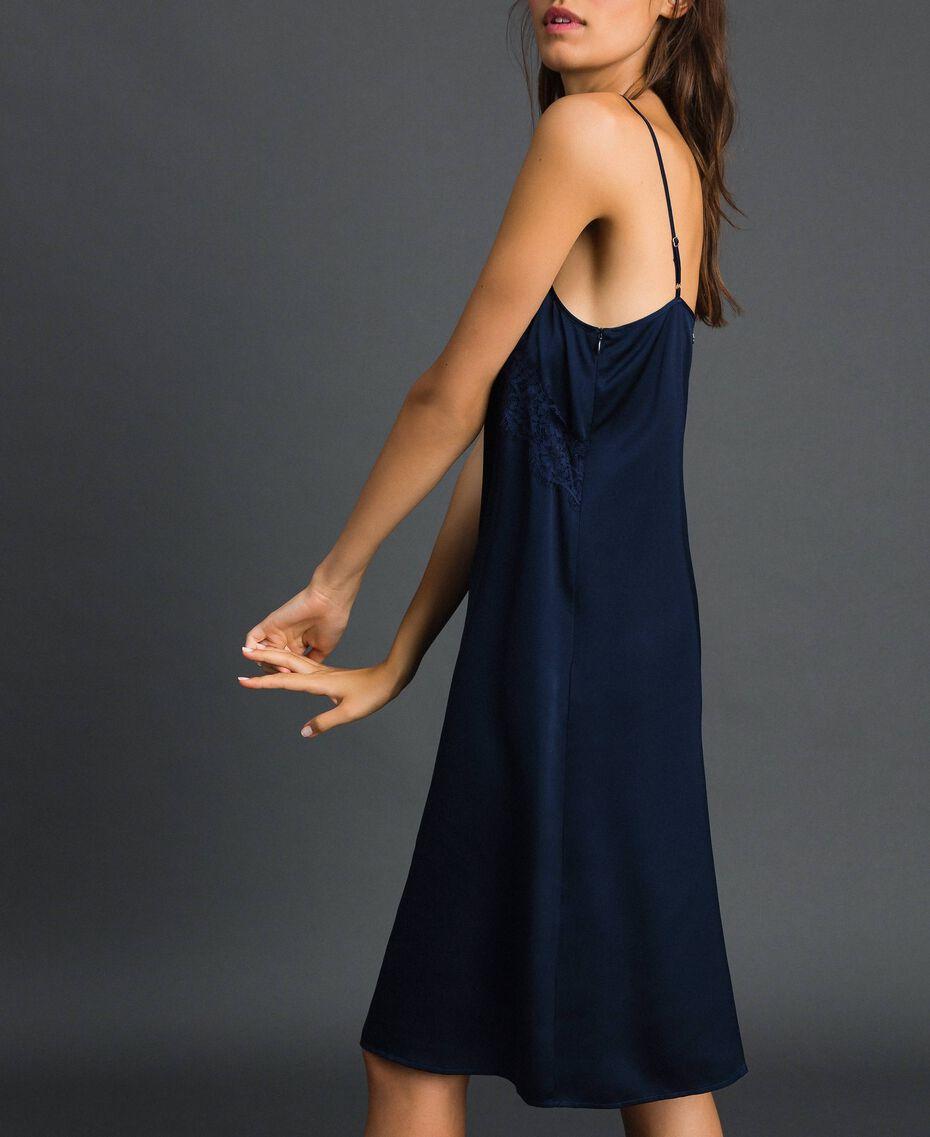 Scalloped lace slip dress Night Blue Woman 192ST2092-02