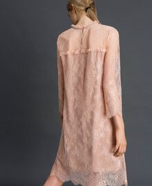 "Valenciennes lace dress with floral embroidery ""Pale Pink"" Woman 192TP2587-03"