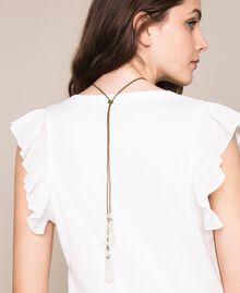 Ожерелье регулируемой длины с раковиной и жемчужинами Белый Antique White женщина 201TO5302-0T