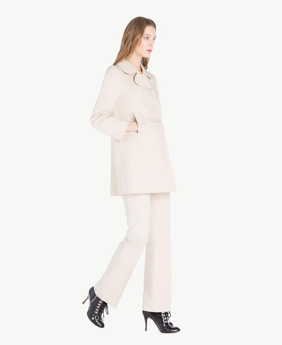 Trench toile Écru Femme PS824P-02
