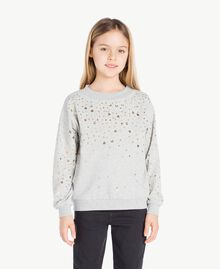 Studded sweatshirt Light Gray Mélange Child GS82G2-02