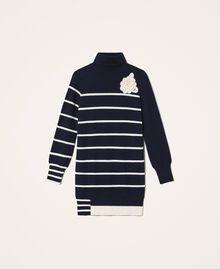 Maxi maglia a righe Rigato Space Blue / Bianco Sugar Donna 202ST3110-0S