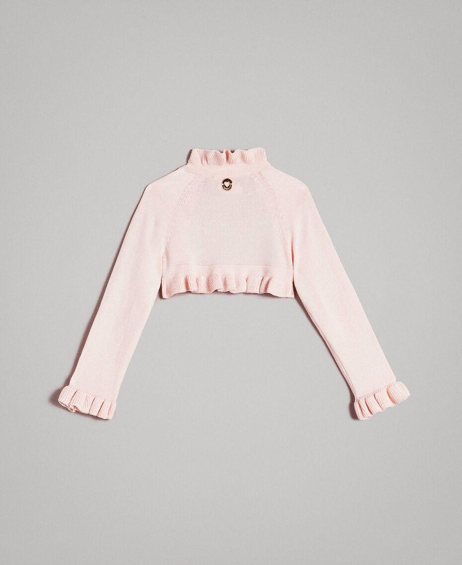 Viscose shrug with ruches Blossom Pink Child 191GB3Q92-0S