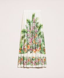 Long skirt with floral print Snow Jungle Flowers Print Woman 201TT2484-0S