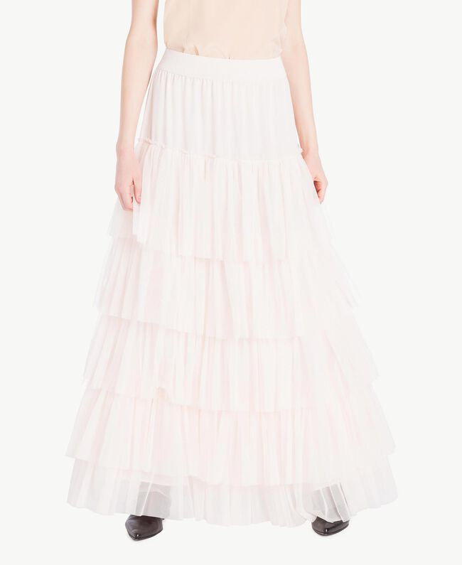 Tulle skirt Pale Ecru Woman PS8271-01