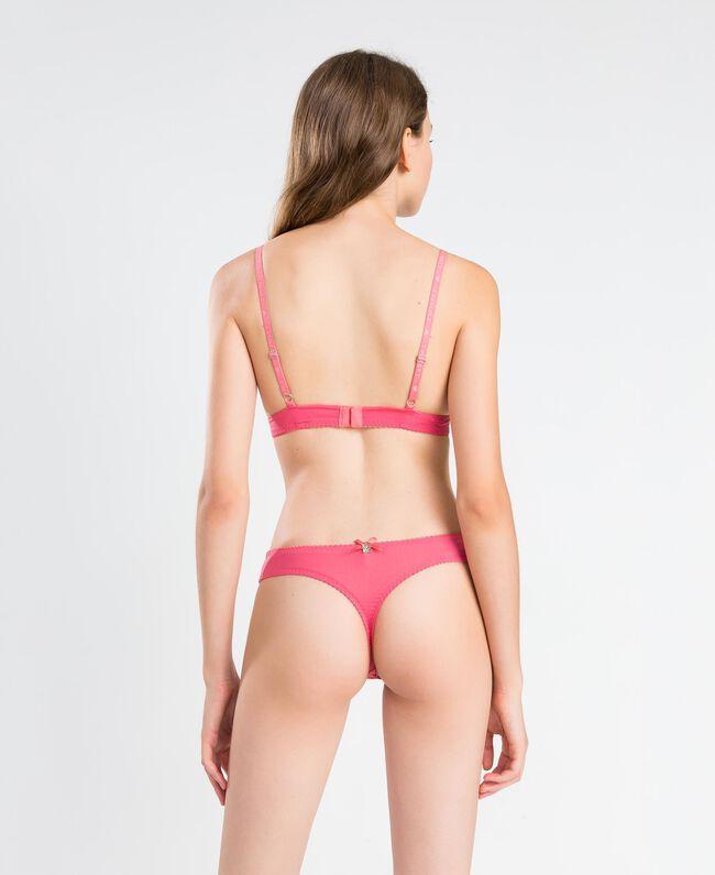 Scalloped lace thong Royal Pink Pink Woman IA8C88-03