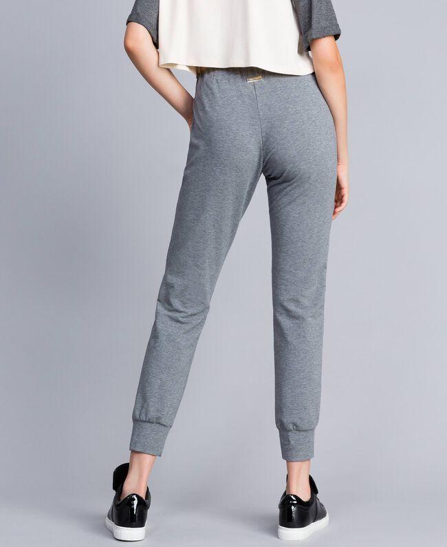 Pantalon de jogging en molleton Gris moyen chiné Femme IA85SS-03