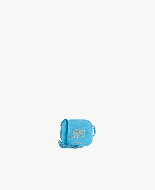 TWINSET Mini logo clutch bag Turquoise Woman OS8TEB-01