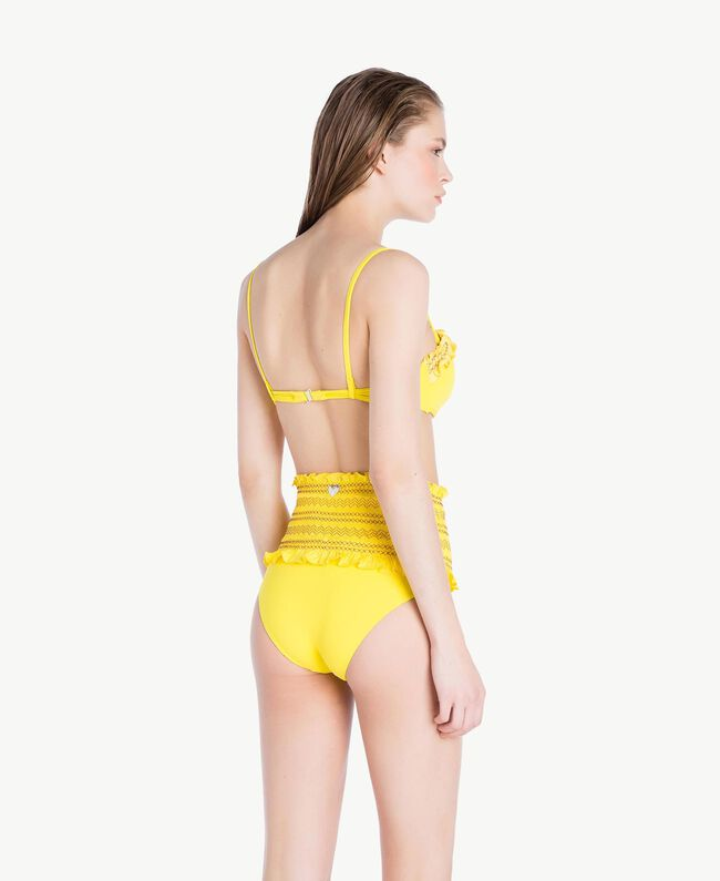 High waisted embroidered briefs Yellow Fizz Woman MS8AZZ-04