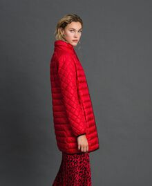 Long ultra light puffer jacket Poppy Red Woman 192MP2101-01