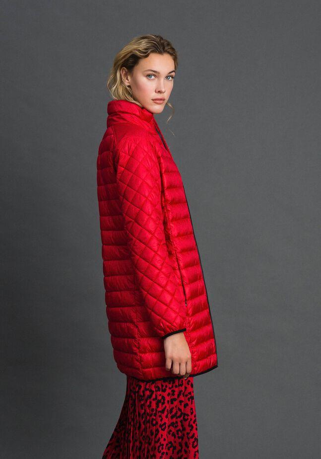 Long ultra light puffer jacket