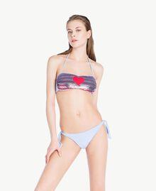 Soutien-gorge de bain bandeau paillettes Bicolore Rouge «Pink Twist» / Bleu «Blue Spume» Femme BS8311-03