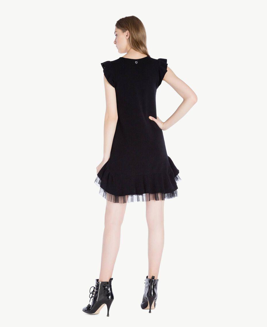 Openwork dress Black Woman PS8311-03