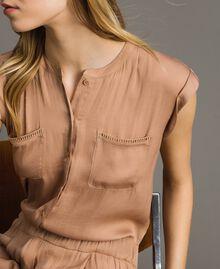 """Langer Jumpsuit mit elastischem Taillenband """"Petra Sandstone"""" Braun Frau 191LM2GDD-04"""