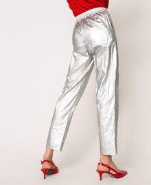Ламинированные брюки на резинке Silver женщина 201TP2400-04