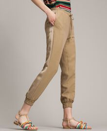 "Linen jogging trousers ""Cold Desert"" Brown Woman 191TT230B-03"