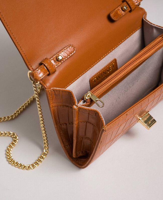 Petit sac à bandoulière en cuir imprimé Cuir Femme 192TO8043-04