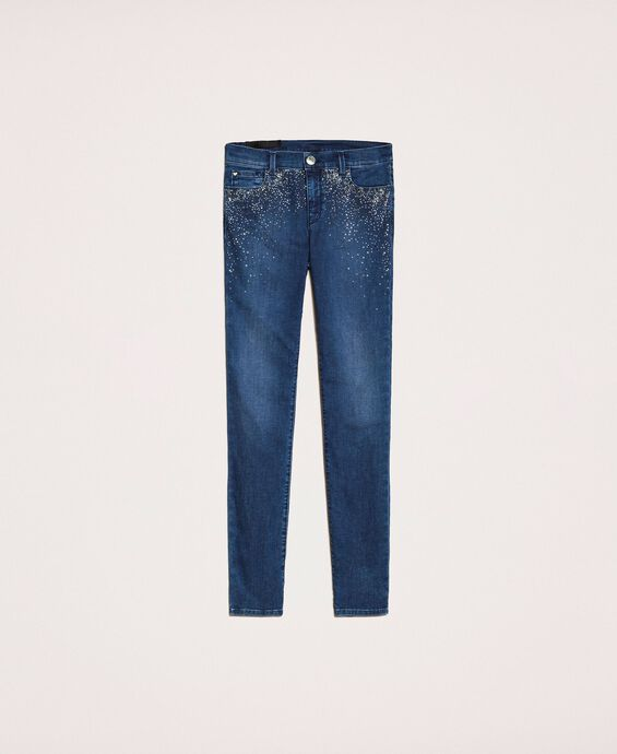 Push up jeans with studs