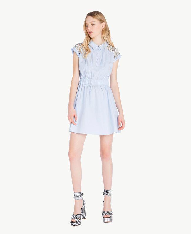 Robe dentelle Topaze Bleu Femme JS82D4-01