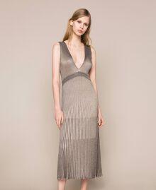 Robe longue en lurex Multicolore Argent Femme 201TT3051-01