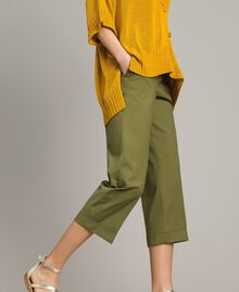 "Poplin trousers ""Olive"" Green Woman 191TT2232-02"