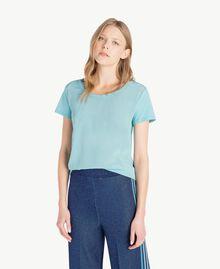 T-shirt soie Bleu ciel Femme PS82HB-01